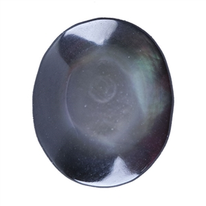 Natural Black Lip Shell Gemstone - Cabochon Oval 10x12mm - Pak of 1