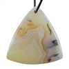 Botswana Agate Gemstone - Triangle Pendant 41mm x 43mm - Pak of 1