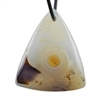 Botswana Agate Gemstone - Triangle Pendant 32mm x 38mm - Pak of 1