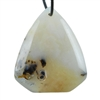 Botswana Agate Gemstone - Triangular Freeform Pendant 39mm x 46mm - Pak of 1