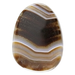 Natural Botswana Agate Gemstone - Cabochon Freeform 27mm x 36.5mm - Pkg of 1