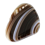 Natural Botswana Agate Gemstone - Cabochon Freeform 27mm x 34mm - Pkg of 1