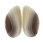 Natural Botswana Agate Gemstone - Cabochon 15mm x 29mm Matched Pair