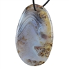 Botswana Agate Gemstone - Oval Pendant 33mm x 55mm - Pak of 1