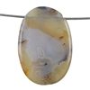 Botswana Agate Gemstone - Oval Pendant 29mm x 43mm - Pak of 1