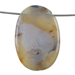 Botswana Agate Gemstone - Oval Cabochon 24mm x 48mm - Pak of 1