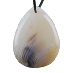 Botswana Agate Gemstone - Pear Pendant 30mm x 40mm - Pak of 1