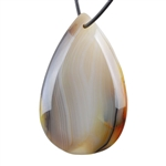 Botswana Agate Gemstone - Pear Pendant 36mm x 57mm - Pak of 1