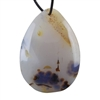 Botswana Agate Gemstone - Pear Pendant 37mm x 51mm - Pak of 1
