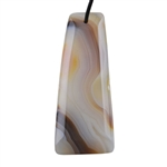 Botswana Agate Gemstone - Tapered Rectangle Pendant 24mm x 57mm - Pak of 1