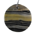 Natural Zebra Jasper Gemstone -  Round Pendant 40mm - Pak of 1