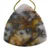Pyrite in Quartz Gemstone - Trillion Pendant 43mm - Pak of 1