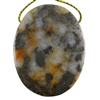 Pyrite in Quartz Gemstone - Oval Pendant 35mm x 45mm - Pak of 1