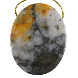 Natural Cherry Blossom Jasper Gemstone - Cabochon Rectangle 30x48mm - Pak of 1