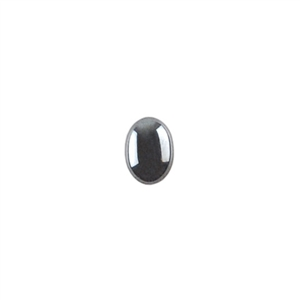 Natural Hematite Gemstone - Cabochon Oval 6x8mm - Pak of 2