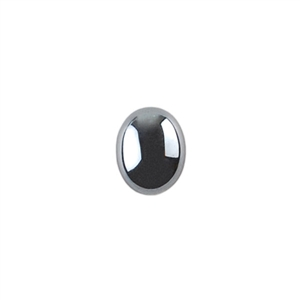 Natural Hematite Gemstone - Cabochon Oval 8x10mm - Pak of 2