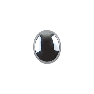 Natural Hematite Gemstone - Cabochon Oval 10x12mm - Pak of 1