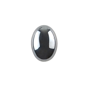 Natural Hematite Gemstone - Cabochon Oval 10x14mm - Pak of 1