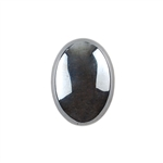 Natural Hematite Gemstone - Cabochon Oval 13x18mm - Pak of 1