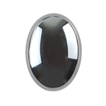 Natural Hematite Gemstone - Cabochon Oval 18x25mm - Pak of 1