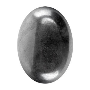 Natural Hematite Gemstone - Cabochon Oval 22x30mm - Pak of 1