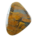 Tiger Iron Gemstone - Triangle Cabochon 51mm x 38mm Pkg - 1