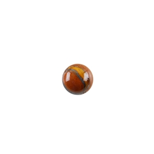 Natural Tiger Iron Gemstone - Cabochon Round 8mm - Pak of 3