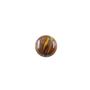 Natural Tiger Iron Gemstone - Cabochon Round 10mm - Pak of 2