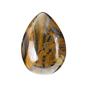 Natural Tiger Iron Gemstone - Cabochon Pear 10x14mm - Pak of 2