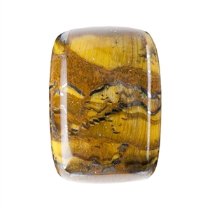 Natural Tiger Iron Gemstone - Cabochon Rectangle 10x14mm - Pak of 2