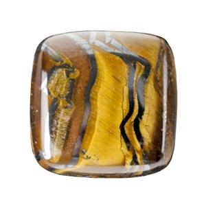 Natural Tiger Iron Gemstone - Cabochon Square 14mm - Pak of 1