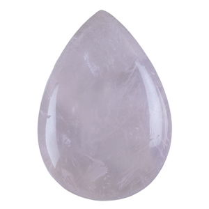 Natural Rose Quartz Gemstone - Cabochon Pear 16x22mm