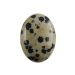 Natural Dalmatian Jasper Gemstone - Cabochon Oval 18x25mm - Pak of 1