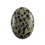 Natural Dalmatian Jasper Gemstone - Cabochon Oval 22x30mm - Pak of 1