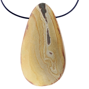 Wonderstone Jasper Gemstone - Pear Pendant 22mm x 44mm Pkg - 1