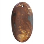 Wonderstone Jasper Gemstone - Oval Pendant 28mm x 51mm Pkg - 1