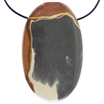 Wonderstone Jasper Gemstone - Oval Pendant 30mm x 49mm Pkg - 1