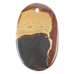 Picture Jasper Gemstone - Freeform 23mm x 29mm - Pak of 1