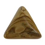 Picture Jasper Gemstone - Triangle Cabochon 25mm x 25mm Pkg - 1