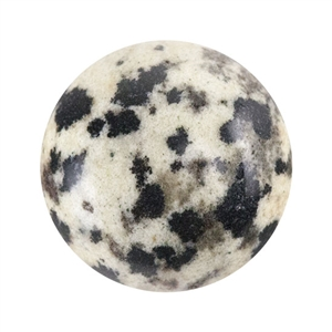 Natural Dalmatian Jasper Gemstone - Cabochon Round 12mm - Pak of 3