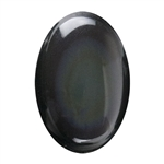 Natural Obsidian Rainbow Gemstone - Cabochon Oval 10x14mm - Pak of 1
