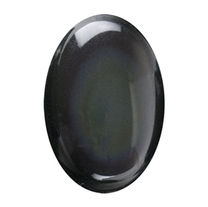 Natural Obsidian Rainbow Gemstone - Cabochon Oval