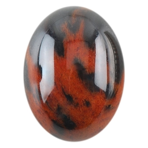 Natural Obsidian Mahogany Gemstone - Cabochon Oval 6x8mm - Pak of 3