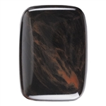Natural Obsidian Mahogany Gemstone - Cabochon Rectangle 15x20mm - Pak of 1