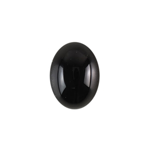 Natural Black Onyx Gemstone - Cabochon Oval 6x8mm - Pak of 1