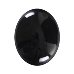 Natural Black Onyx Gemstone - Cabochon Oval 8x10mm - Pak of 2