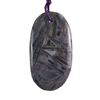 Natural Bamboo Agate Gemstone - Freeform Pendant 28mm x 51mm