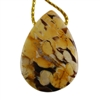 Natural Peanut Wood Gemstone - Pendant Pear 19mm x 27mm - Pak of 1