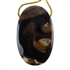 Natural Peanut Wood Gemstone - Pendant Oval 28mm x 45mm - Pak of 1