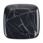 Natural Spiderweb Obsidian Gemstone - Cabochon Freeform 15mm x 36mm Pkg - 1